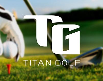 TITAN GOLF branding