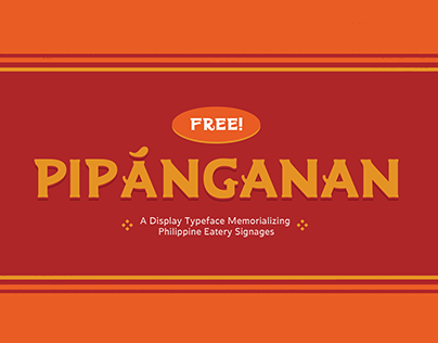 Pipánganan • Free Display Typeface