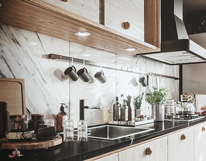Appartment in Milan, Kitchen