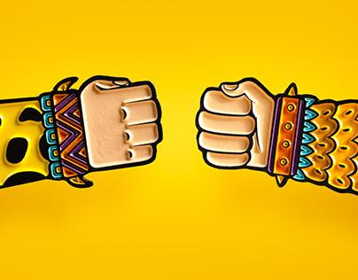 Fotografía publicitaria: Amigos Guerreros by Metzican
