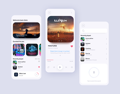 Music Player app UI - Daily UI 009