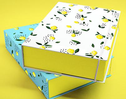 Lemon Pattern for packaging