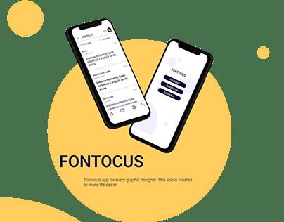 Fontocus UX/UI