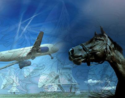 """Collage """"Vliegpaard"""" voor APS."""