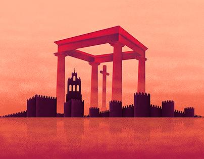 """Ilustracion """"monumentos de Ávila"""" 1"""