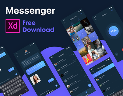 Messenger - Dark mode - Free Download