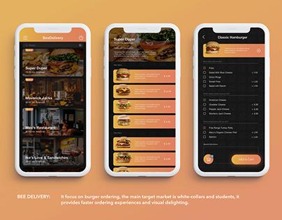 Bee Delivery App Design (2018)