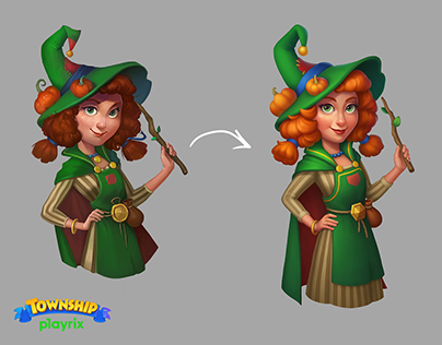 Character rework on Township, Playrix