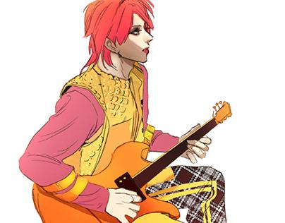 Guitar band illust