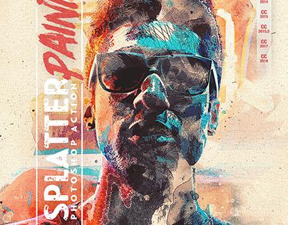 Splatter Paint Photoshop Action CS3+
