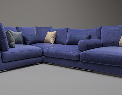 3D modeling and visualization of the sofa.