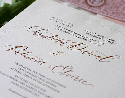 Wedding Invitation: Patricia and Christian