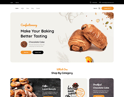 Confectionery Shop with elementor & woocommerce