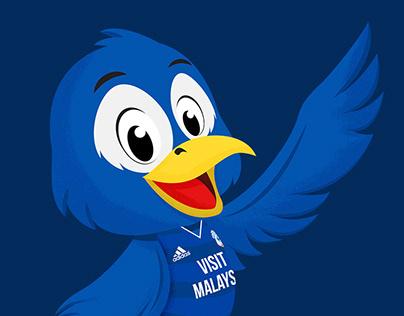 Cardiff City FC Mascot Design - Bartley Bluebird