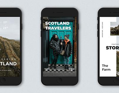 FREE Download - 12 Scotland Instagram Stories Template