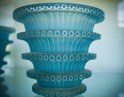 Rene Lalique glassware.