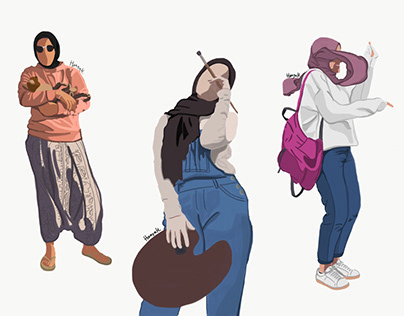 A step by step time lapse of my illustrations