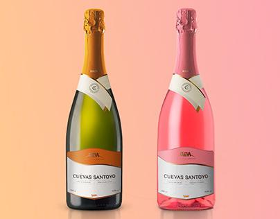 Cuevas Santoyo wine label