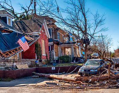 A glimpse of the 2020 Nashville tornado damage...