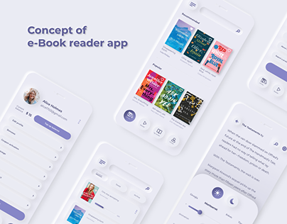 Concept of e-Book reader app