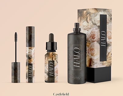 Halo Skincare & Cosmetics Branding and Packaging