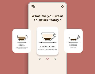 Coffee App/UI animation
