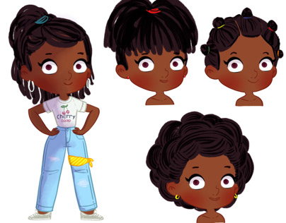 Character design - Afro Hairstyles