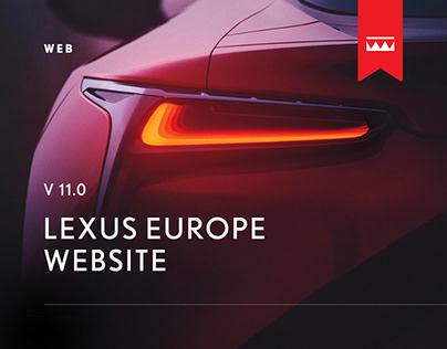 Lexus - EU Website - Web Design