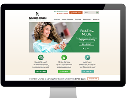 Nordstrom Federal Credit Union | Web Design