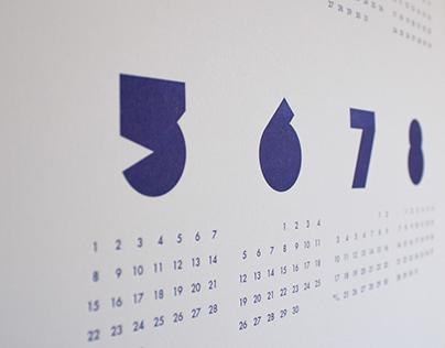 2016 Letterpress Minimal Calendar