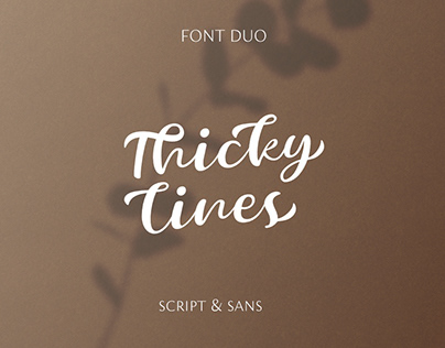 Thicky Lines script
