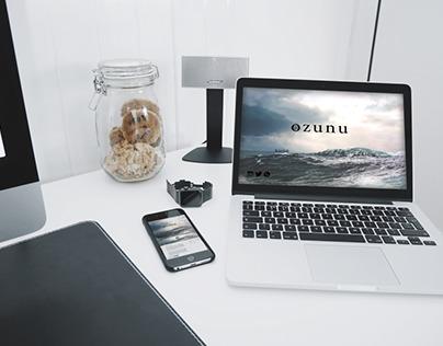 Ozunu.id web Layout design and branding by Pfarrachman