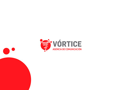 Diseño para eventos de agencia de prensa Vórtice