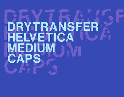 LRC Type - DryTransfer Helvetica Medium Caps (Free)