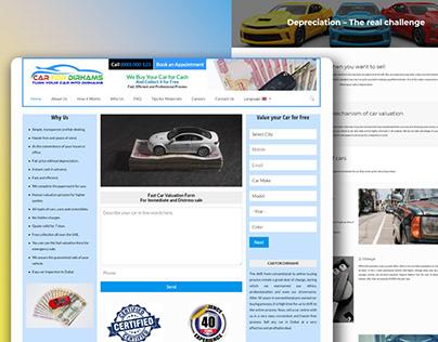 Car Sell website In WordPress UAE