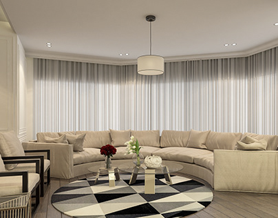 Flat - living area - Interior design