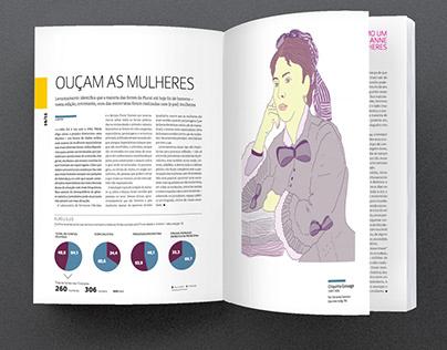 illustration for revista plural