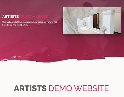 Artists Demo Website