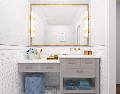 Blue Cottage Powder Room