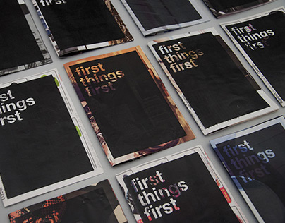 First things first – A manifesto