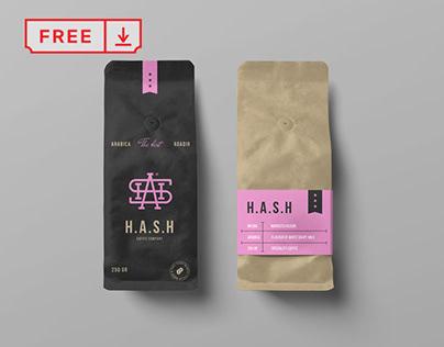 Free Coffee Bags Mockup