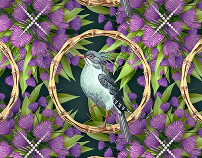 Pattern design Bling Birds 12 Edouard Artus ©2018