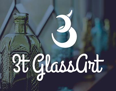 3T Glass Art logo proposal