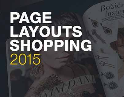 Shopping pages layouts