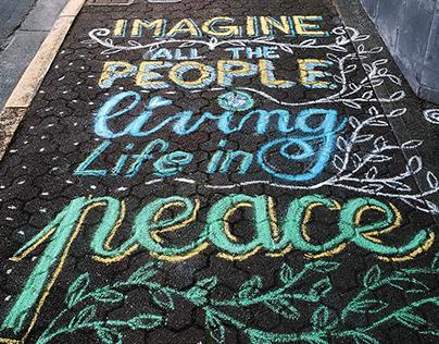 Sidewalk Chalk Lettering