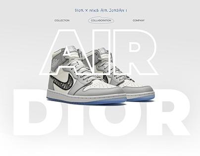 Dior x Nike Air Jordan 1 | Landing page