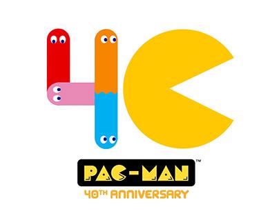 Pac-Man 40th Anniversary Logo