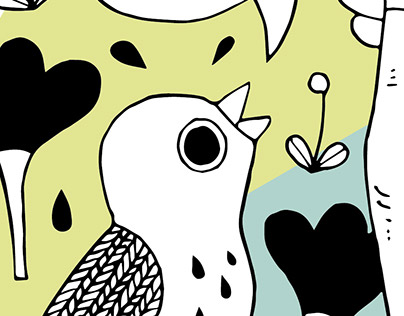 Comic bird