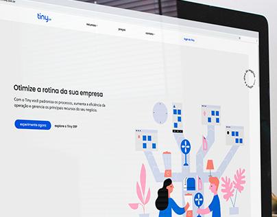 Novo site do Tiny ERP