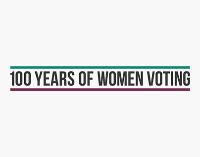 100 Years of Women Voting